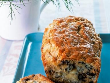 Accords mets & vins - Cake aux noix et au bleu