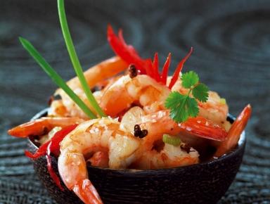 Accords mets & vins - Crevettes sautées sel et poivre