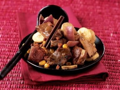 Accords mets & vins - Ragoût de porc et poulet à la banane