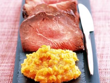 Accords mets & vins - Rôti de bœuf, purée de citrouille et pommes de terre muscade
