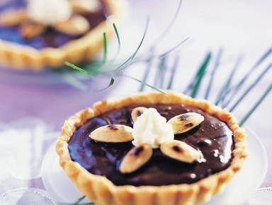 Accords mets & vins - Tarte au chocolat en croquant d'amandes