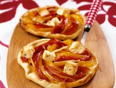 Accords mets & vins - Pizza aux poivrons confits et à la feta