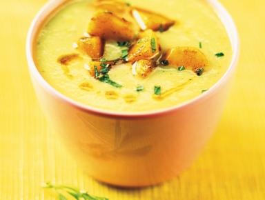 Accords mets & vins - Velouté de concombre à la menthe et pommes de terre au curry