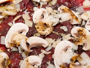 Accords mets & vins - Tartare de champignons au magret
