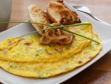 Accords mets & vins - Omelette poivrons et jambon