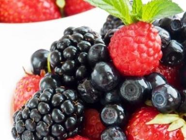 Accords mets & vins - Salade de fruits rouges et noirs à la menthe