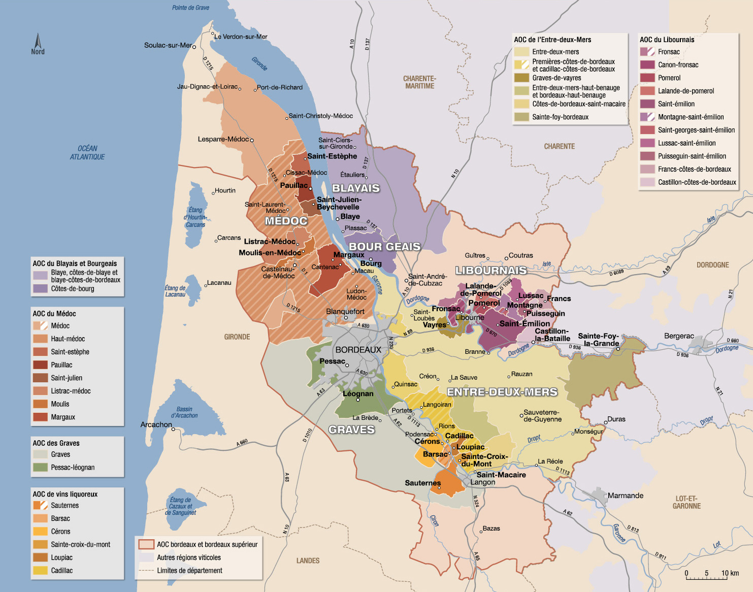 Carte Bordeaux Appellations.Vins Et Appellations Du Bordelais Guide Hachette Des Vins